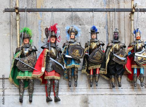 Papiers peints Palerme Opera dei Pupi / marionnettes siciliennes - Italie
