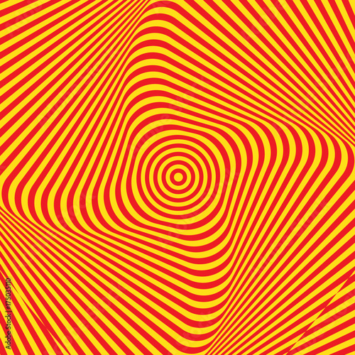 Fototapeta Abstract twisted background. Optical illusion of distorted surface. Twisted stripes.