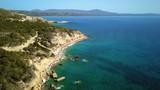 September 2017: Aerial View of Fourni Beach, Rodos island, Aegean, Greece - 175035968