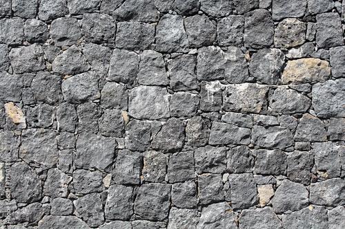 Mur en pierre de lave