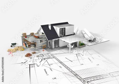 Przedłużenie projektu rozbudowy domu