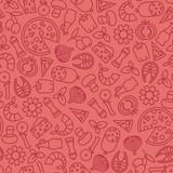 seamless pizza pattern - 175047597