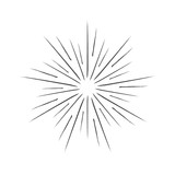 Linear drawing of rays of the sun in vintage style. - 175047724