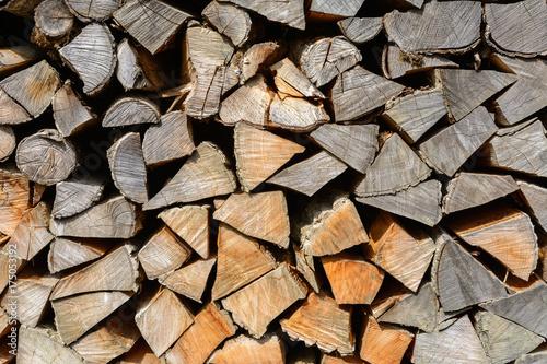 Holz auf dem Stapel Poster