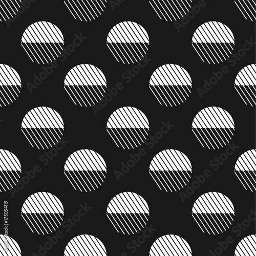 Geometric seamless pattern. Vector abstract background. Black and white creative pattern.