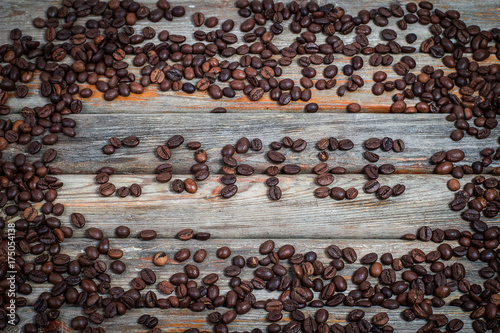 The inscription of coffee in vintage style