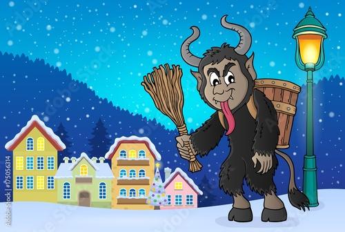 Deurstickers Voor kinderen Krampus theme image 4