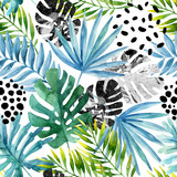 Hand drawn abstract tropical summer background - 175062943