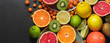 Closeup of fresh fruits