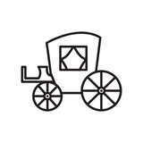 Vintage Carriageantique Transport  Line Icon Sign Illustration   Editable Strokes Wall Sticker