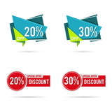 Sale And Discount Label Sticker Vector Set Element - 175068561