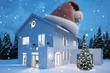 Einfamilienhaus im Winter