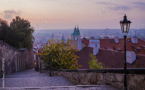 Staande foto Praag Beautiful morning in Prague. Old town of Prague in autumn, Czech Republic.