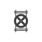Tap shutter icon vector, filled flat sign, solid pictogram isolated on white. Symbol, logo illustration. - 175077396