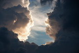 Dramatic atmosphere panorama view of beautiful sunset sky  and storm clouds background. - 175078985