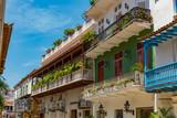 malerisches haus bei strahlenden Sonnenschein in Cartagena Kolumbien - 175079995