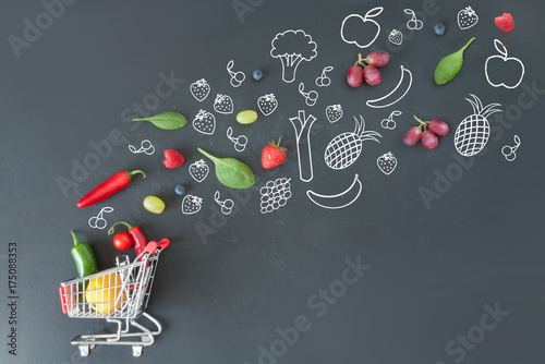 Grocery shopping cart concept