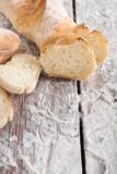 Bakery concept. Plenty of sliced white bread background - 175091168