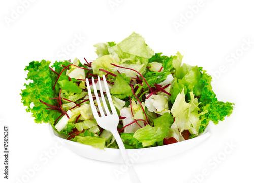 Fotobehang Kersen Healthy salad