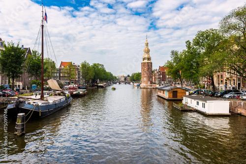 Foto op Aluminium Amsterdam Canal in Amsterdam Netherlands