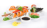 Japanese sushi set on white background. - 175111593