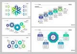 Five Marketing Slide Templates Set - 175117370