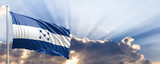 Honduras flag on blue sky. 3d illustration