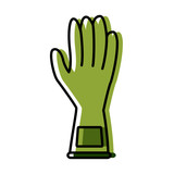 Cleaning glove isolated icon vector illustration graphic design - 175130580