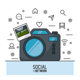 Photography and social network icon vector illustration graphic design - 175131384