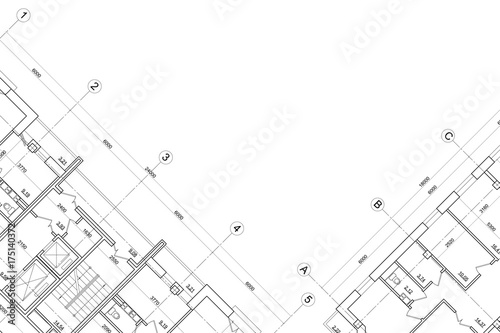 Fototapeta Background of architectural drawing