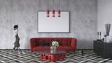 Modern interior design of living room 3d Render - 175147136