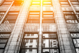 Modern office building close up in sunlight    - 175155788