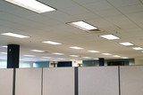 cubicles inside office building, place of work - 175161959