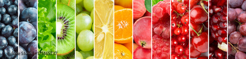 Background of color fresh fruits