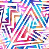 Colored maze seamless pattern