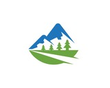 Mountain road  Logo Business Template Vector - 175172959