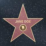 Hollywood movie actor celebrity walk of fame star. Vector Illustration
