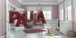 Leinwanddruck Bild - Name Paula Luftballons im Kinderzimmer