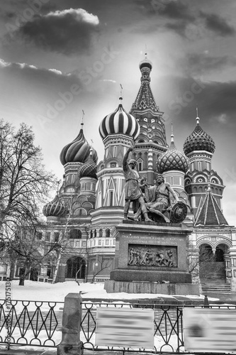 Foto op Plexiglas Moskou St. Basil Cathedral in Moscow