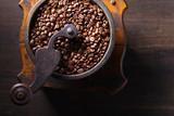 Old coffee grinder. - 175176162