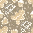 Seamless pattern with Christmas elements. Vector illustration. - 175181376
