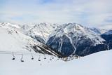 Mountains ski resort Solden Austria - 175183704