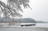 Badestelle am Pohlsee im Winter - 175184385