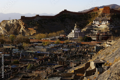 ruins of an ancient city in Tibet