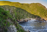 Suspension Bridge over the Storms River Mouth in Tsitsikamma National Park, South Africa - 175191327