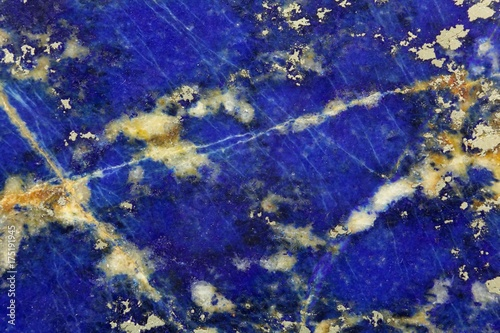 Tuinposter Stenen Polished surface of Lapislazuli