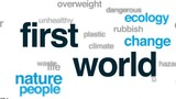 First world animated word cloud, text design animation. - 175193108