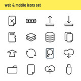Vector Illustration Of 16 Archive Icons. Editable Pack Of Upward, Remove, Hdd And Other Elements. - 175196305