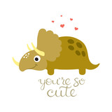 Cute dino illustration - 175201529
