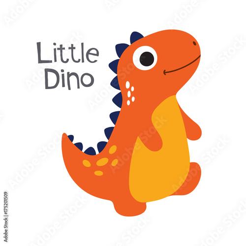 Cute dino vector illustration